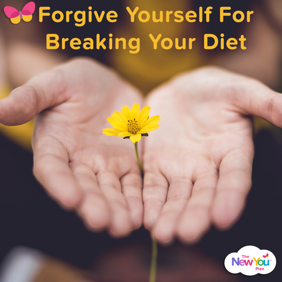 Forgive yourself for breaking your diet