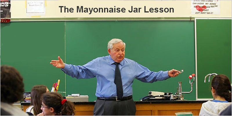 The Mayonnaise Jar Lesson – Are you too busy to look after your health?