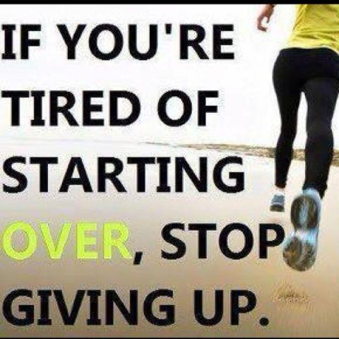 Tired of starting over on your TFR diet? STOP Giving Up!
