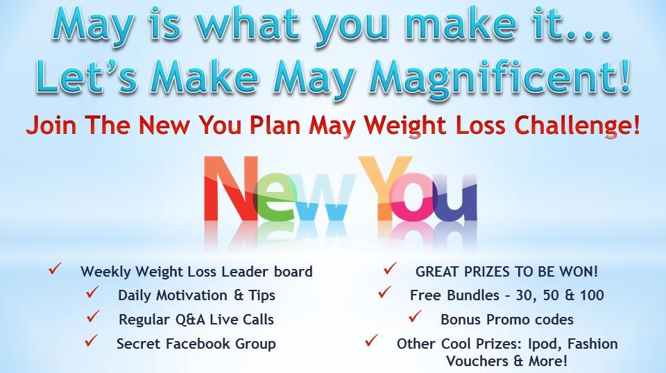 REGISTRATION! May Weight Loss Challenge*