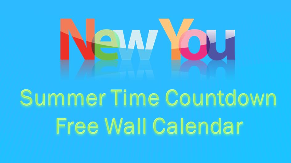 Summer Weight Loss Goals Countdown – Free Wall Chart