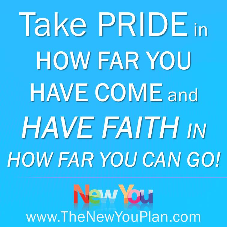 Day 23 New You Plan Weight Loss Challenge – Take pride in how far you have come on your weight loss journey