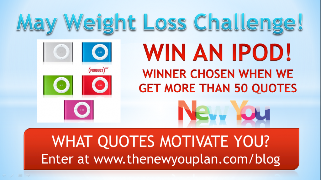 Day 13 New You Plan Weight Loss Challenge – WIN AN IPOD