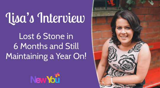 [INTERVIEW] Lisa's shares her journey to lose 6 stone on The New You Plan*