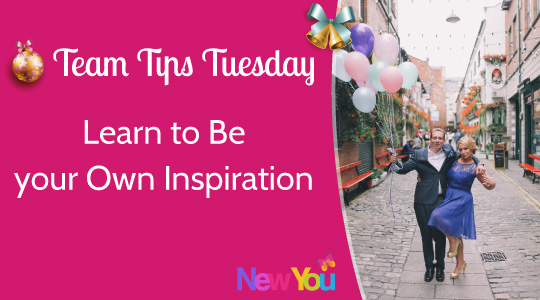 [Video] Team Tips Tuesday at The New You Plan – Week 6 Be Your Own Inspiration!