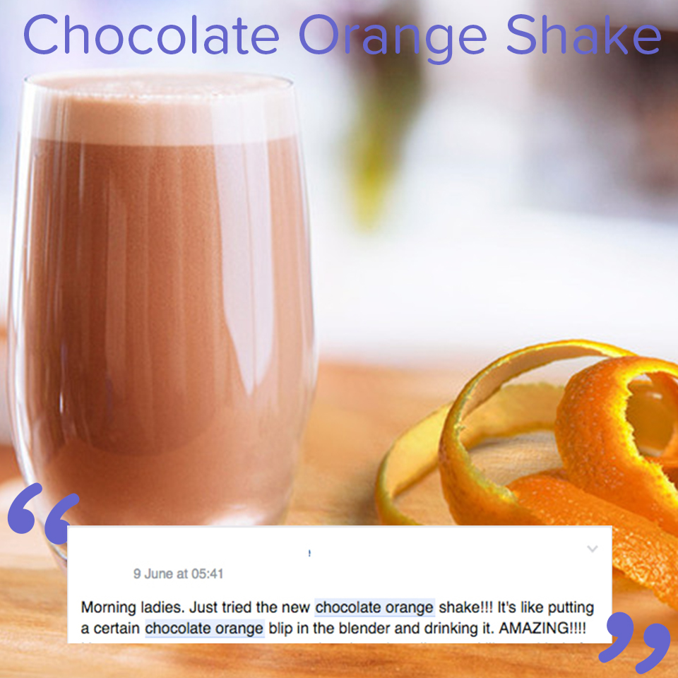 New You Plan Chocolate Orange Shake review