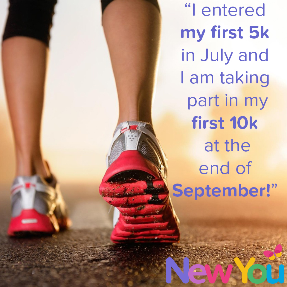 I entered by first 5k in July.