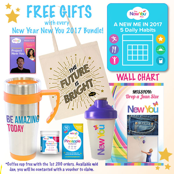 Kickstart your 2017 with our New Year New You Bundle + Gift Package!
