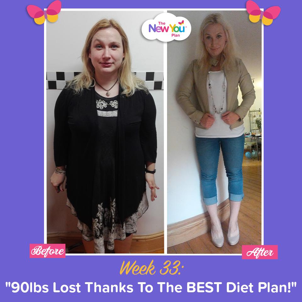 "Week 33: ""90lbs Lost Thanks To The Best Diet Plan!"""