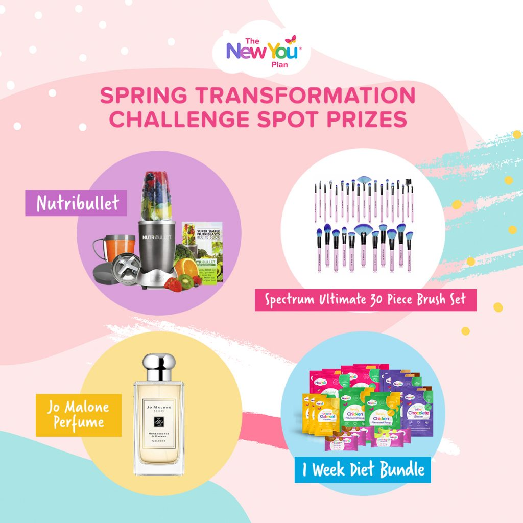 WIN BIG: Spring Transformation Challenge Weekly Spot Prizes