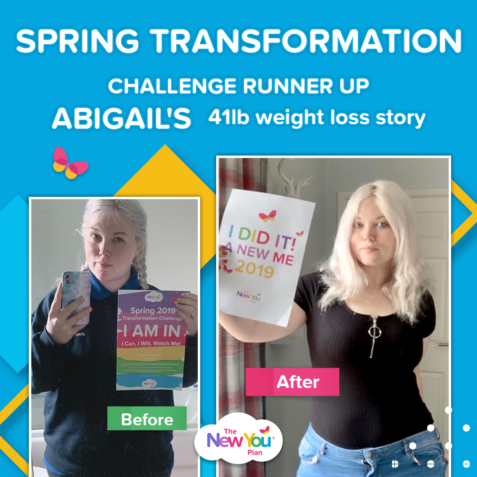 Spring Transformation Challenge Runner Up Abigail's 41lb weight loss story