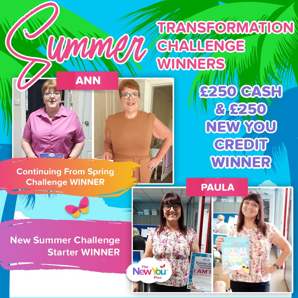 Summer Transformation Challenge Winners Revealed