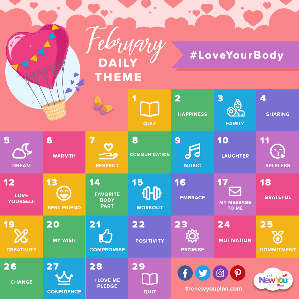 February Love Theme: CHANGE and become the Best Version Of YOU!