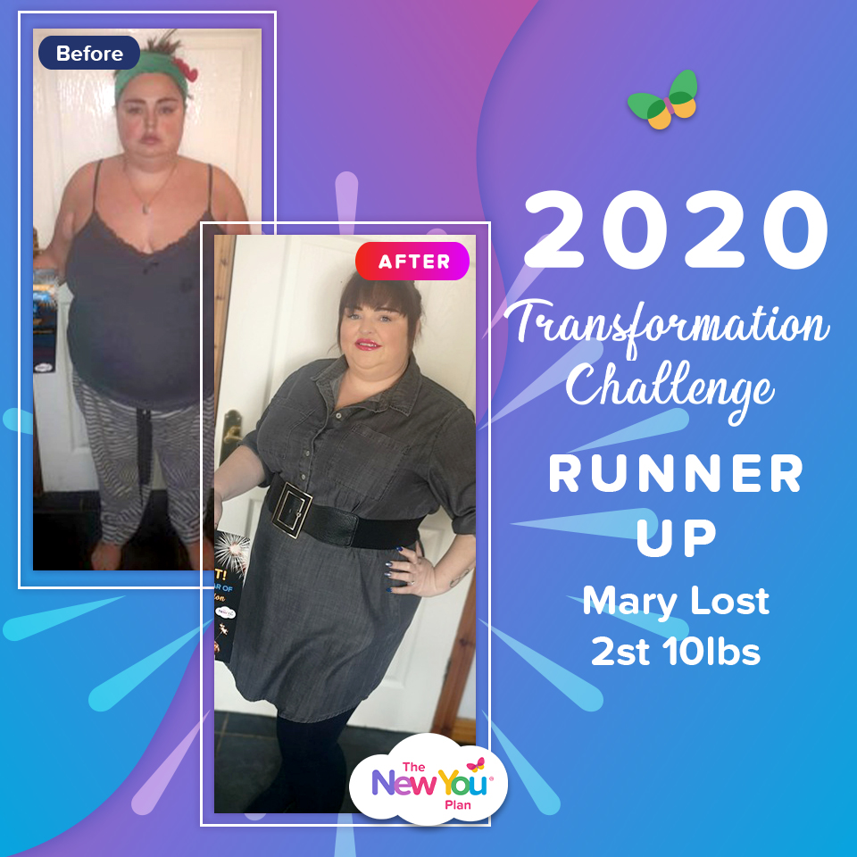 2020 Transformation Challenge Runner Up: Mary Lost 2st 10lbs