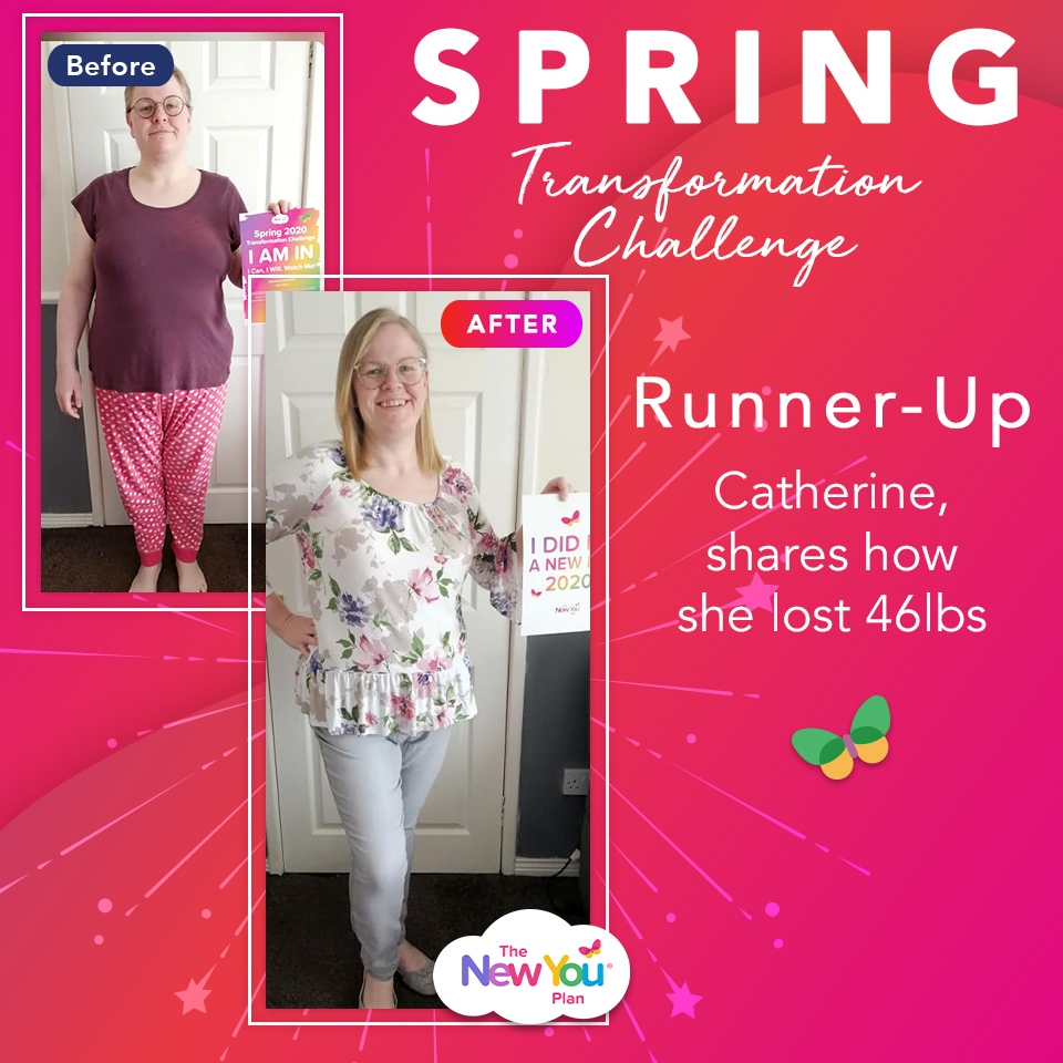 Spring Transformation Challenge Runner-Up Catherine, shares how she lost 46lbs