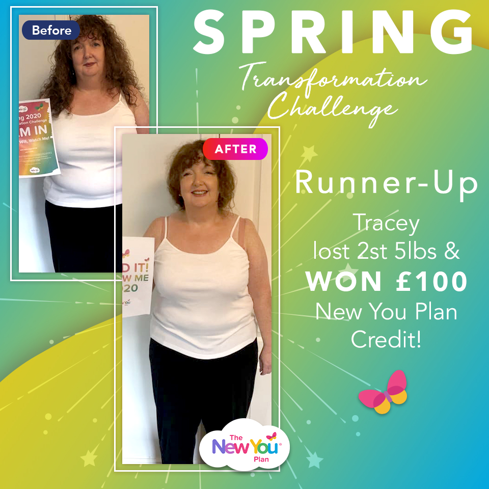 Spring Transformation Challenge Runner-Up Tracey lost 2st 5lbs & won £100 New You Plan Credit!