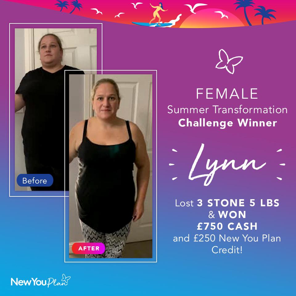 Female Summer Transformation Challenge WINNER Lynn Lost 3st 5lbs & WON £1000