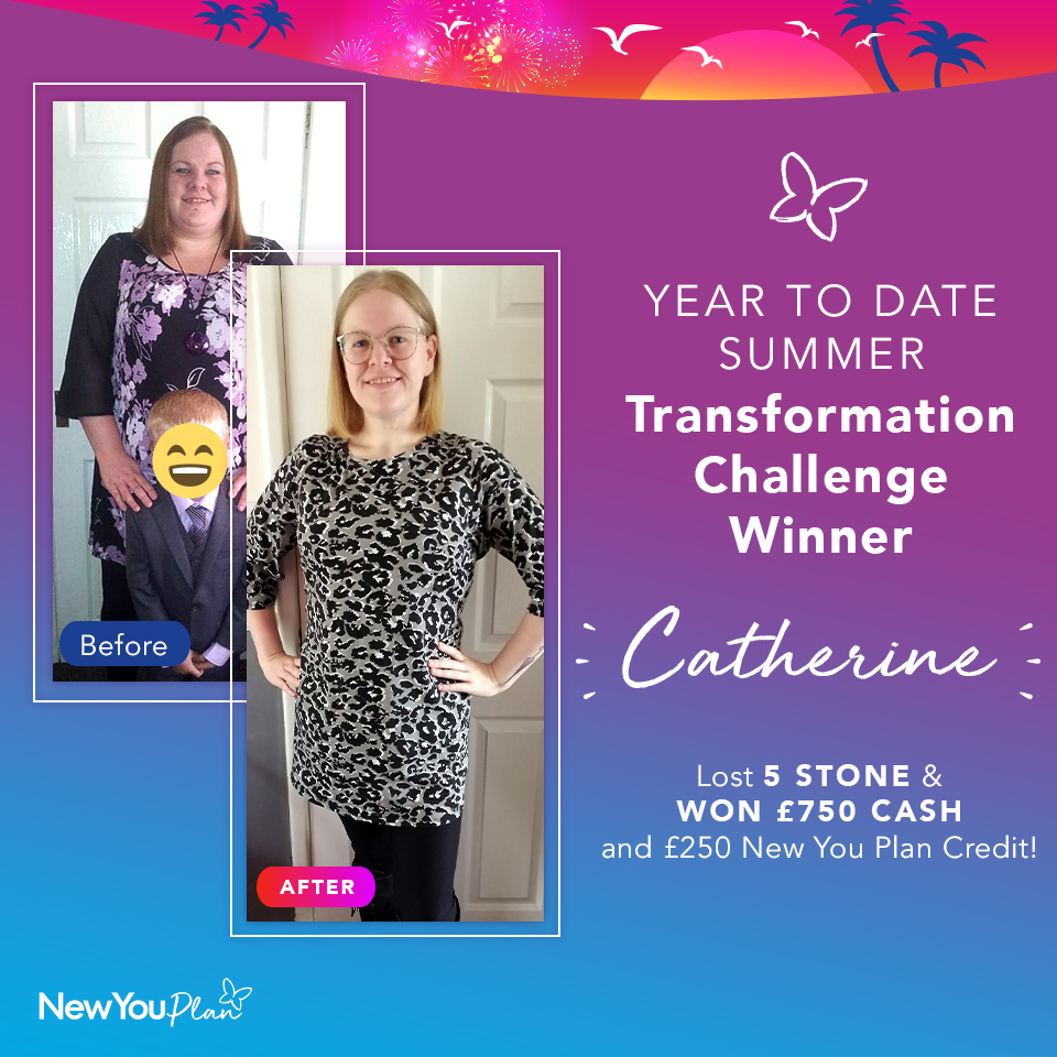 New You Year To Date Transformation WINNER Catherine lost 5 Stone and WON £1000!