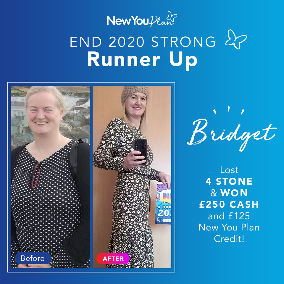 'End 2020 Strong' Challenge Runner-up, Bridget, shares how she lost five dress sizes with New You Plan