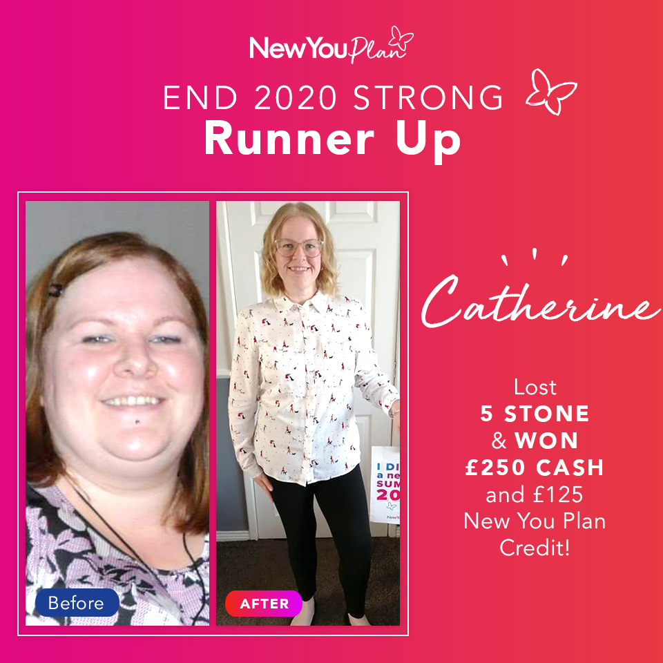 'End 2020 Strong' Challenge Runner-up, Catherine, lost five stone and five dress sizes and WON £250