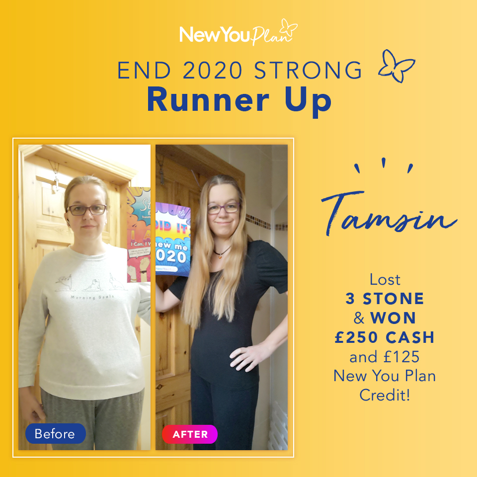 'End 2020 Strong' Challenge Runner-up, Tamsin, shares her New You Plan story and how she WON £250
