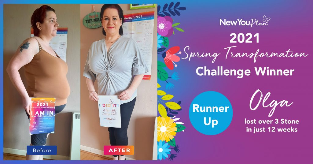 Olga Lost over 3 Stone in Just 12 weeks and came Runner Up In our Spring Transformation Challenge!