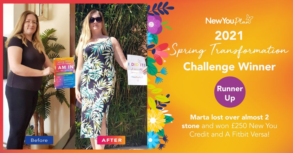 Marta Came Runner Up in our Spring Transformation Challenge and lost almost 2 stone!