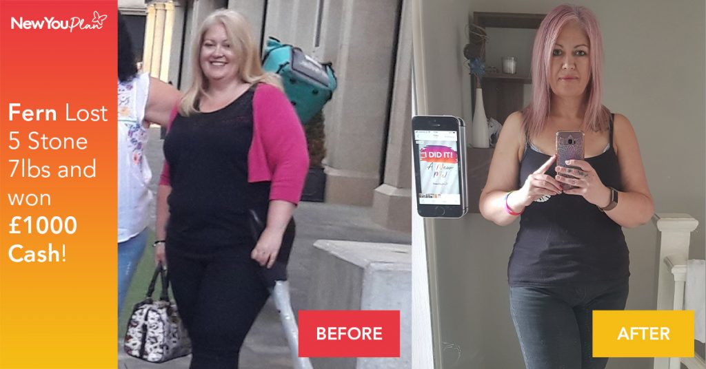 Fern takes £1000 CASH and loses over 5 Stone!